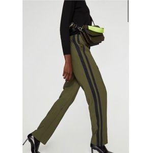 Zara Trafaluc Green Trouser Pants Small